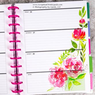 Flowers Blooming Before the Pen Planner Spread