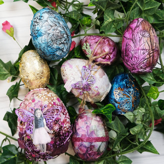 Mixed Media Eggs