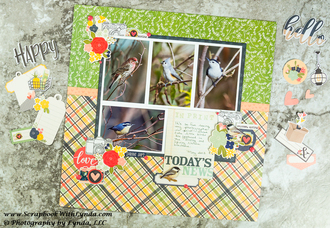 Springtime Scrapbook Layout
