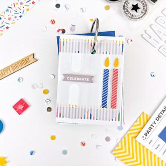 Happy birthday journaling card mini album
