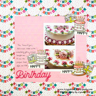 DIY Happy Birthday Embellishments for a Scrapbook Layout