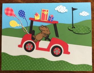 Dog Golf Cart Card
