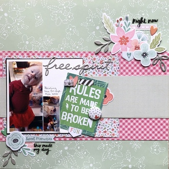 Free Spirit/ Apr layered Embellishment Challenge