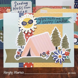 Simple Stories Safe Travels Collection Card Kit - Wish You Were Here