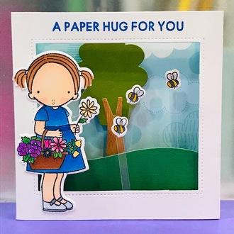 A Hug card