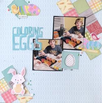 Coloring Eggs/ Sara's sketch challenge