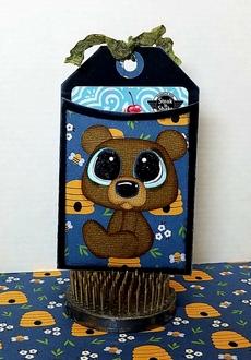 Bear Gift Card Tag Holder
