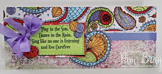 Dancing in the Rain Slimline Card