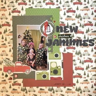 New Christmas Jammies/ Ann's fast Scrap