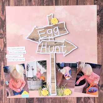 Egg Hunt/ Joanie's Cut File challenge