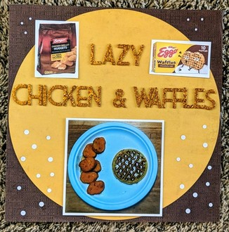 Lazy chicken and waffles