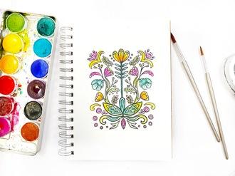 Watercolor Stamping