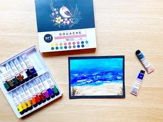Beach Gouache Painting