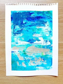 Abstract Blues Painting