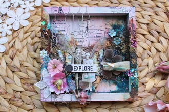 Explore Mixed Media Shadow Box