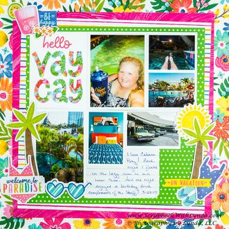 Cabana Bay at Universal Orlando Scrapbook Layout