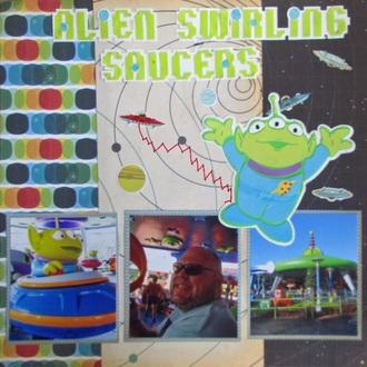 Alien Saucers Swirl