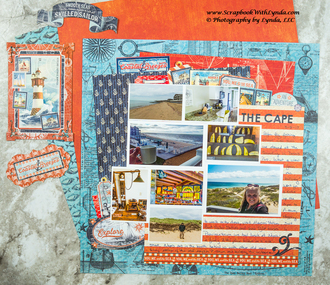 Cape Cod Scrapbook Layout