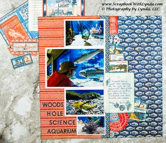 Cape Cod Aquarium Scrapbook Layout