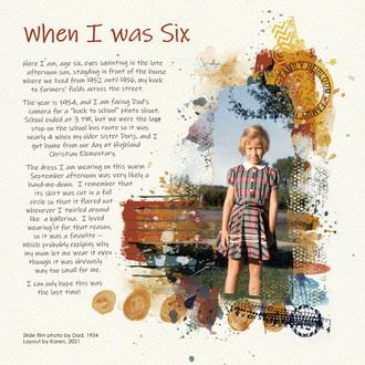 Me Age Six
