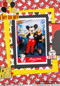 I Met Mickey Mouse Scrapbook Layout