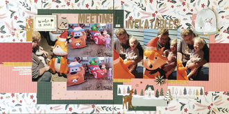 Meeting the inflatables/ July Double Page