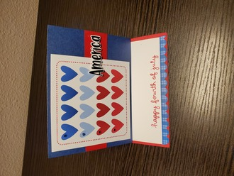 4th of July Easel card
