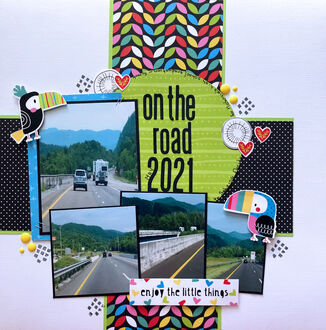 on the road (July 2021 Becky Fleck Sketch #233)