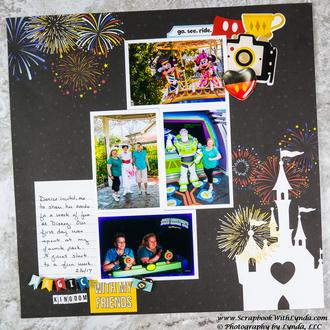 Disney Magic Kingdom Scrapbook Layout