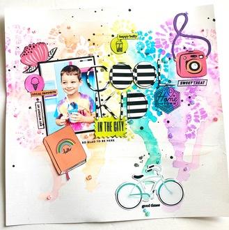 Cool Kid - Mixed media frenzy