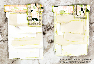 How to Make Torn Notepads and Covered Paperclips for a Junk Journal