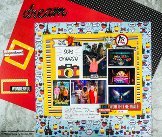 Mastering Busy Small Print Scrapbook Paper