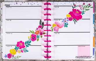 Flowers Dancing on my Before the Pen Planner Page