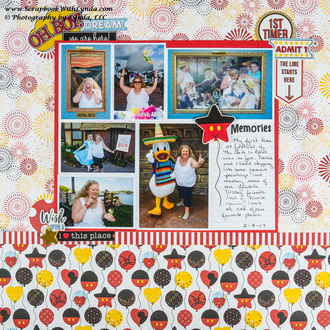 Disney Festival of the Arts at Epcot Scrapbook Layout