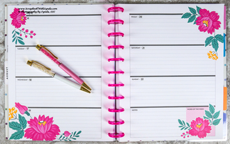 Flower Before the Ink Planner Page
