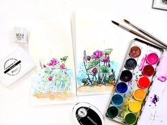 Stamping & Watercoloring