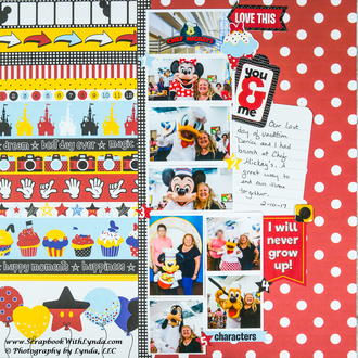 Create a Lively Scrapbook Layout with Border Strip Paper