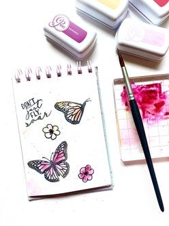 Ink Pad Watercoloring