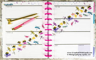 Dragonfly and Bumble Bee Planner Spread
