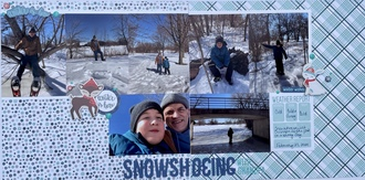 Snowshoeing with Grandpa