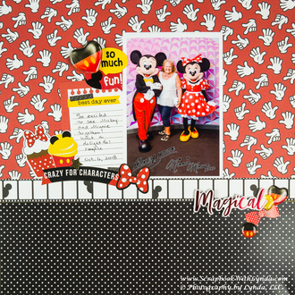 Minnie and Mickey Mouse Scrapbook Layout