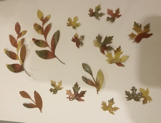 Distress glaze leaves