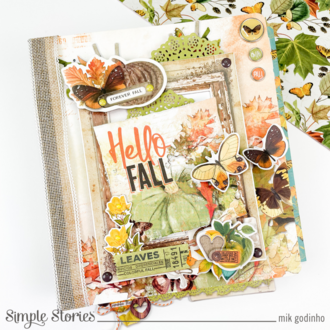 Snap Flipbook with SV Country Harvest Collection - Simple Stories
