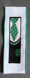 Slythern bookmark - cross stitch