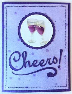 Purple Cheers Card