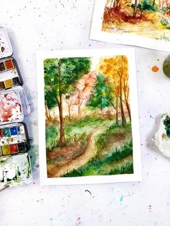 Watercolor Fall Painting