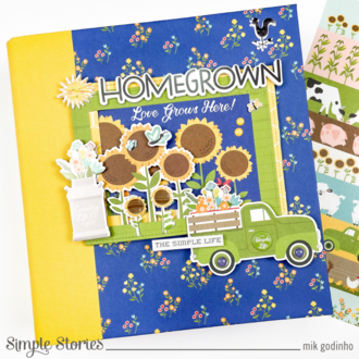 Snap Binder with Homegrown Collection - Simple Stories