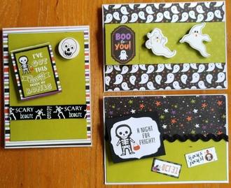 2021 Halloween cards 7 -9