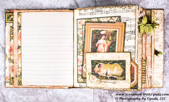 Junk Journal Double Pocket from Up-cycled Envelope