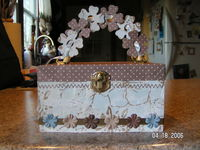 altered wooden purse